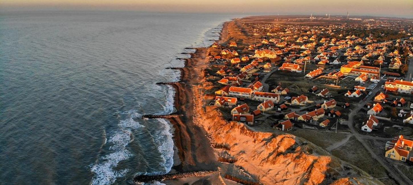 Skagen North Jutland seen from above