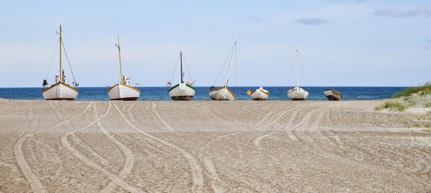 Slette Beach Fishing Boats