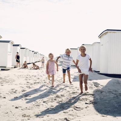 Kids on Løkken Beach