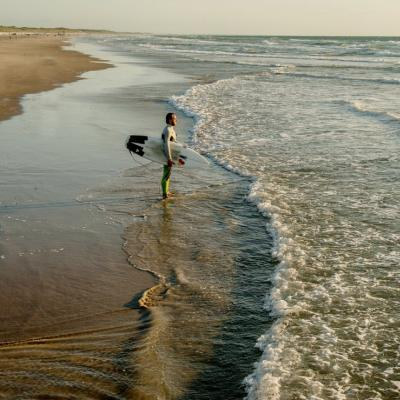 Surfer in North Jutland